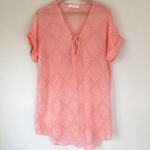 Francesca's Collection | pink lightweight top